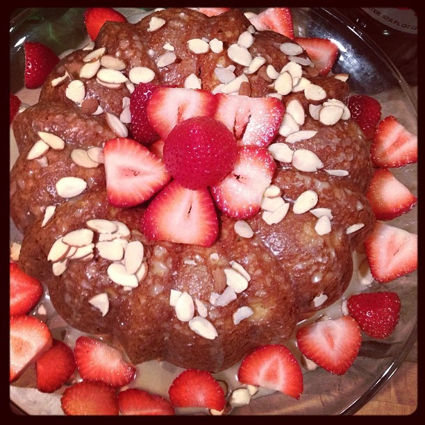 Strawberry Almond Bundt Cake