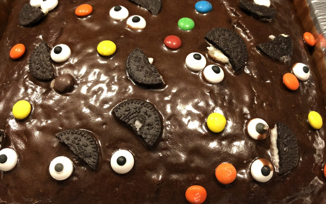 Google Eye Chocolate Cake