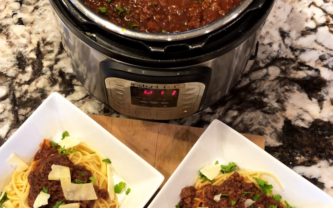 Spaghetti Meat Sauce in the Instant Pot