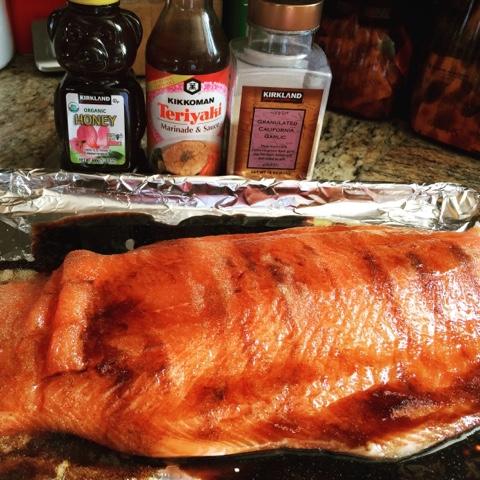 Teriyaki and Honey Salmon