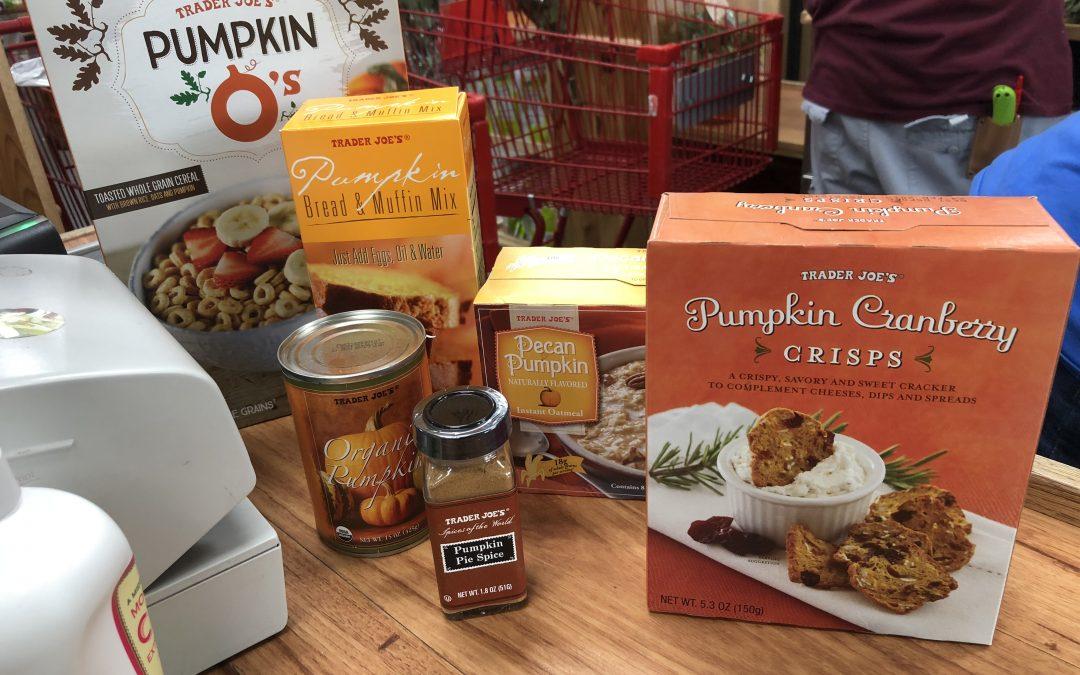 Pumpkin Haul at Trader Joe's