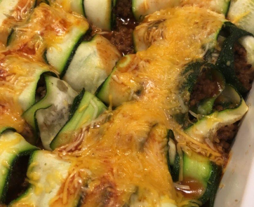 Zucchini Beef Enchilada